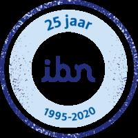 IBN Jubileum 25 jaar Logo-blauw